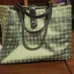 "Vintage Kate Spade ""SAM"" Tote dot noel green New"